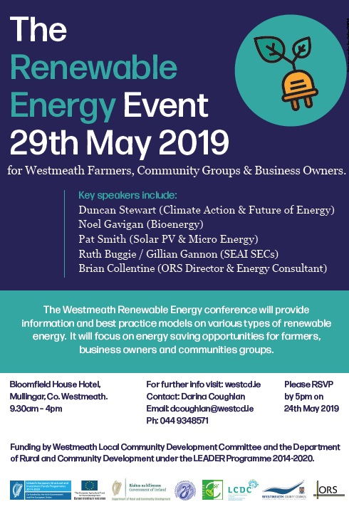 Renewable Energy Conference for Westmeath Farmers, Business